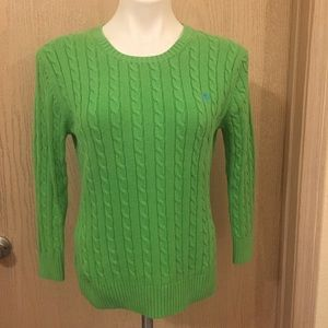 Lilly Pulitzer Cable Knit Sweater   Size Medium